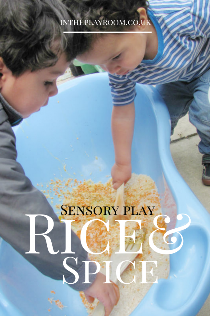 Sensory play with rice and lentils