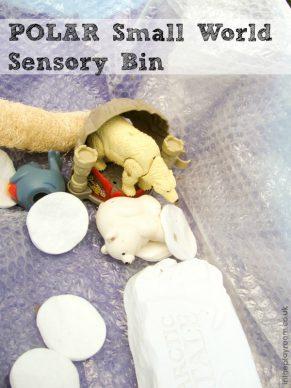 Sensory play – Polar sensory bin