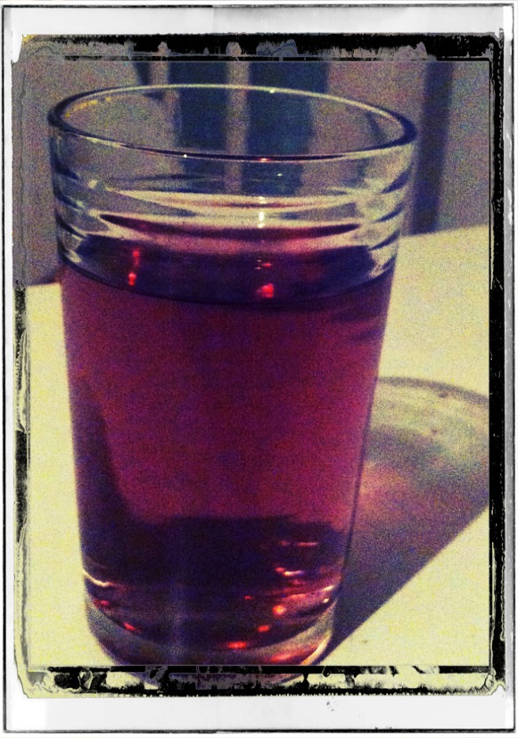 super fruit iced tea in a glass