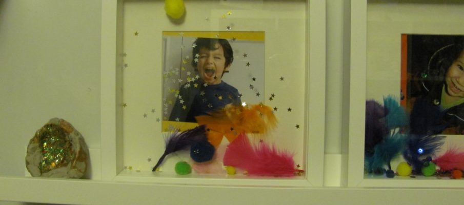 kids childrens photo frames 3d decorated ikea with feathers glitter