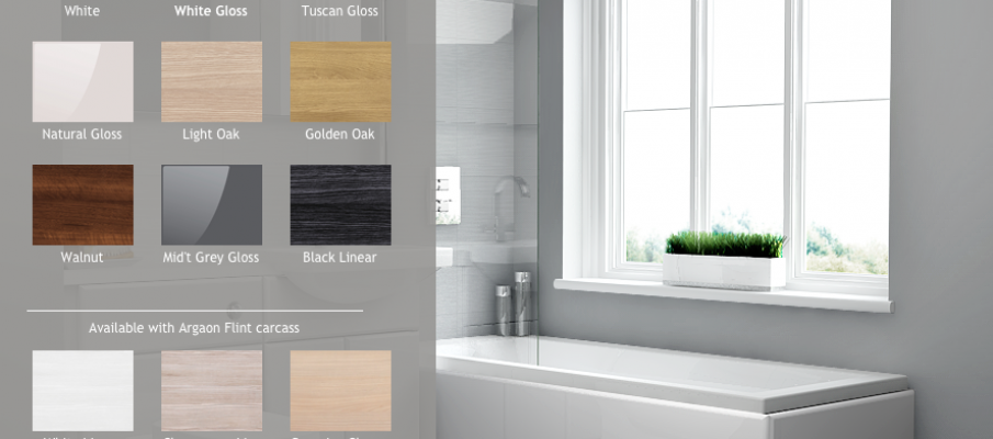 applying a white gloss texture to bathroom in interior design tool