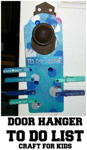 DIY Door Hanger To Do List Craft