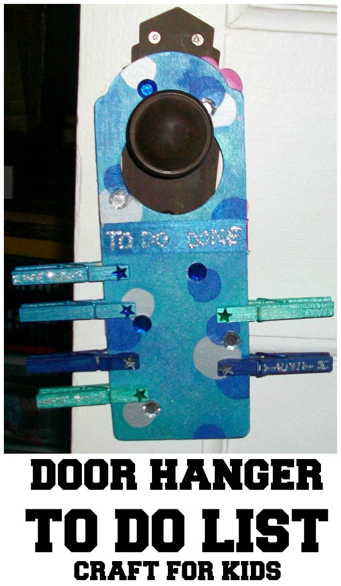 DIY Door Hanger To Do List Craft