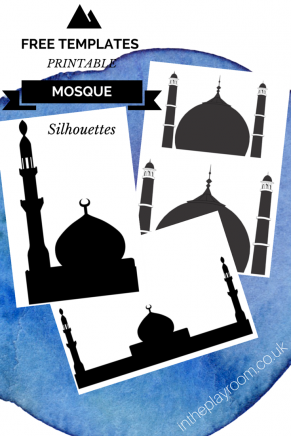 Cutting & Sticking Mosque Pictures with free printable templates