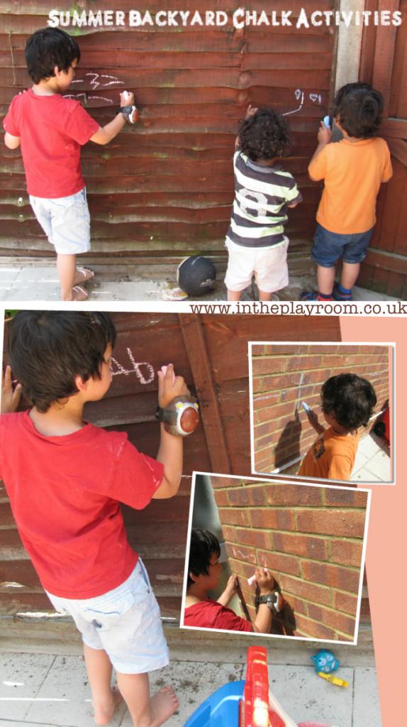 Summer Backyard Chalk Activities