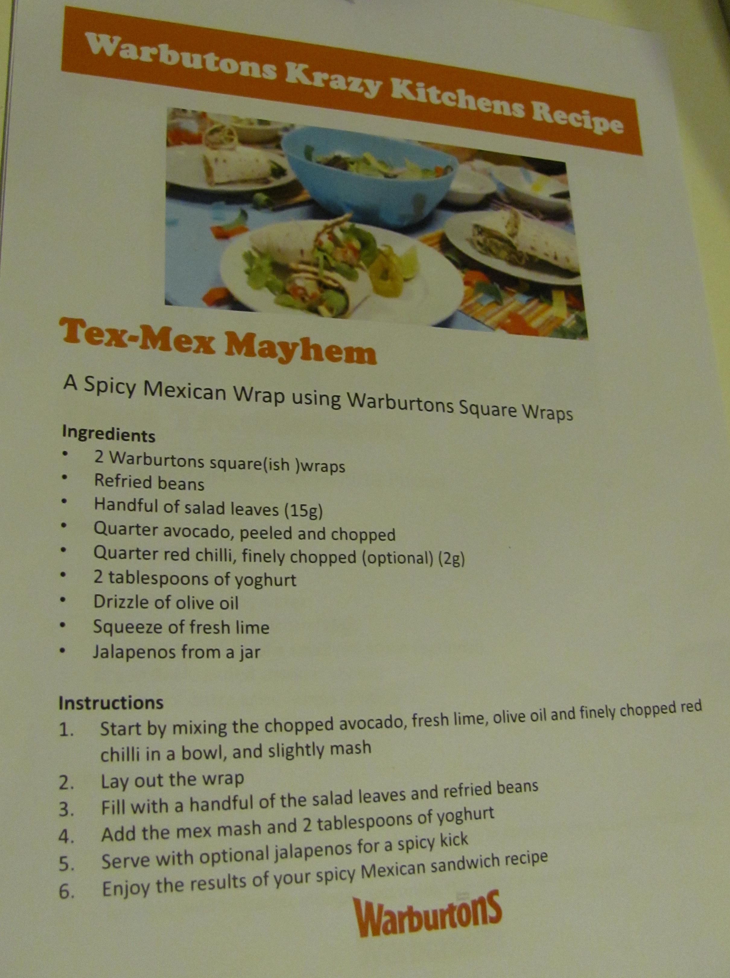 tex mex mayhem wrap recipe