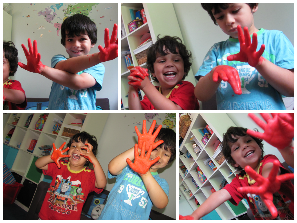 Messy Play With Oilcloth In The Playroom