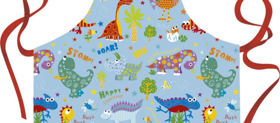 Happy Dinosaur apron
