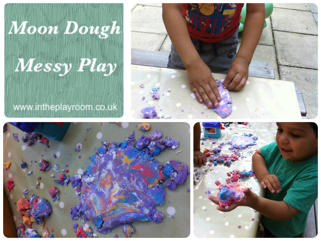 Moon Dough Messy Play