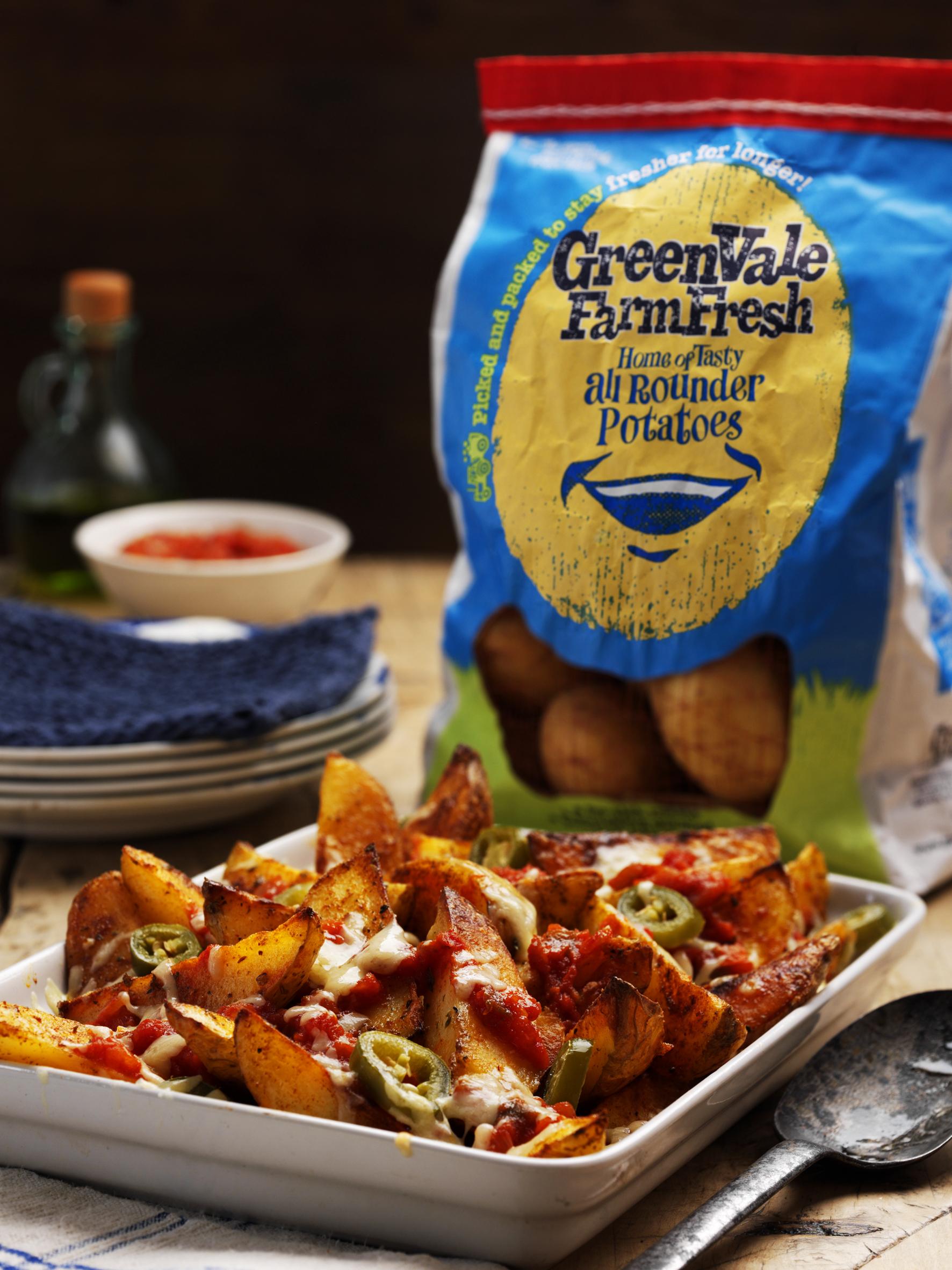 GreenVale spicy nachos wedges