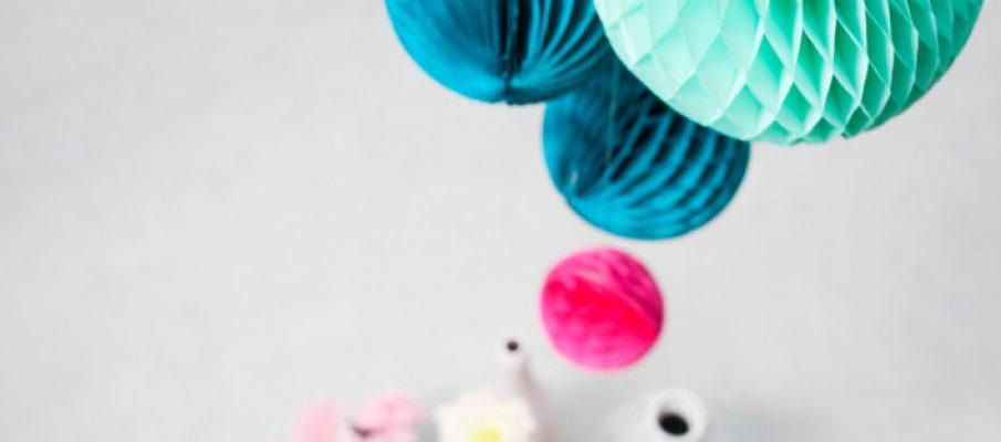 Honeycomb Paper Balls Set - Ocean