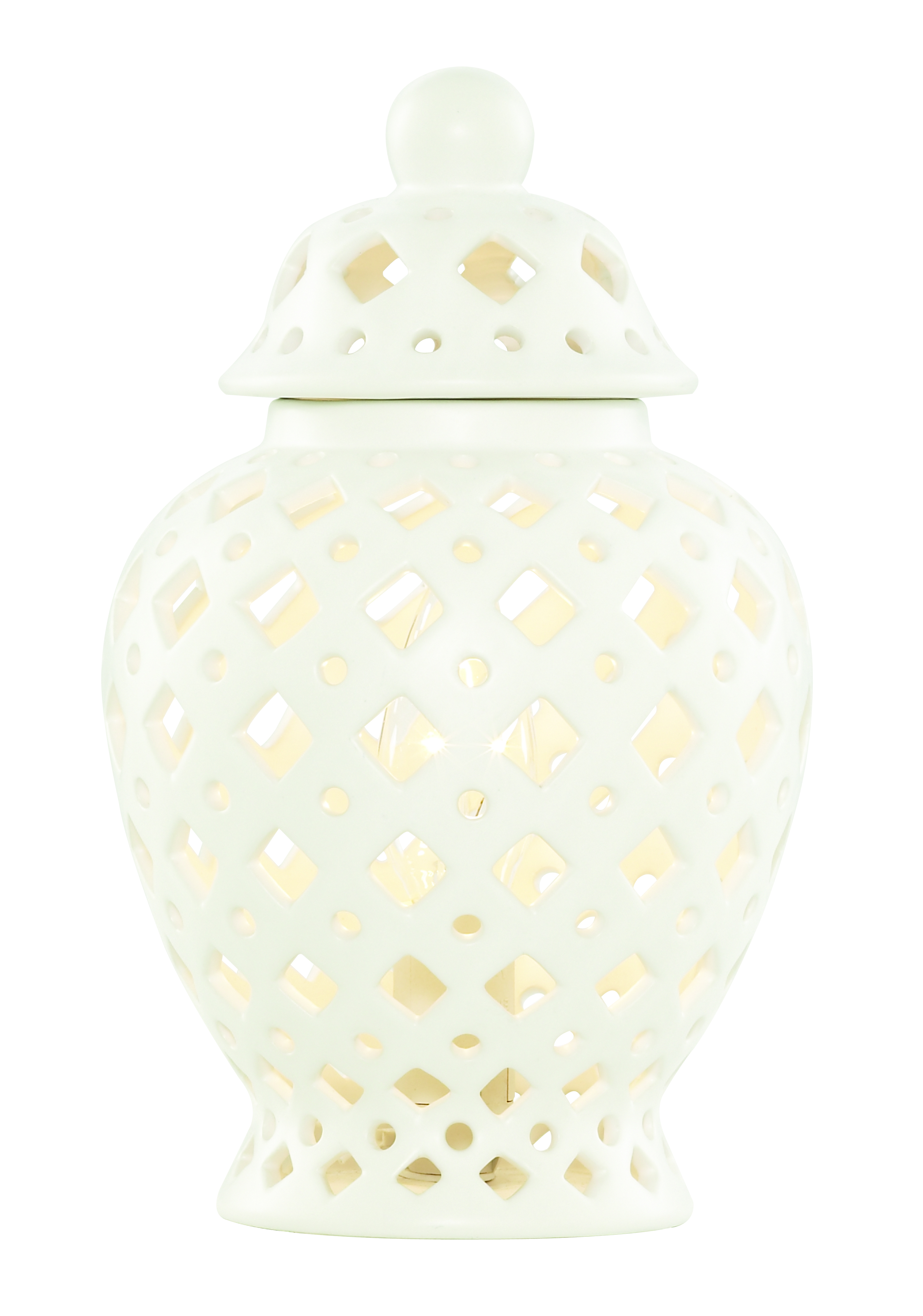 PAGAZZI Ginger Pot Table Lamp White £45