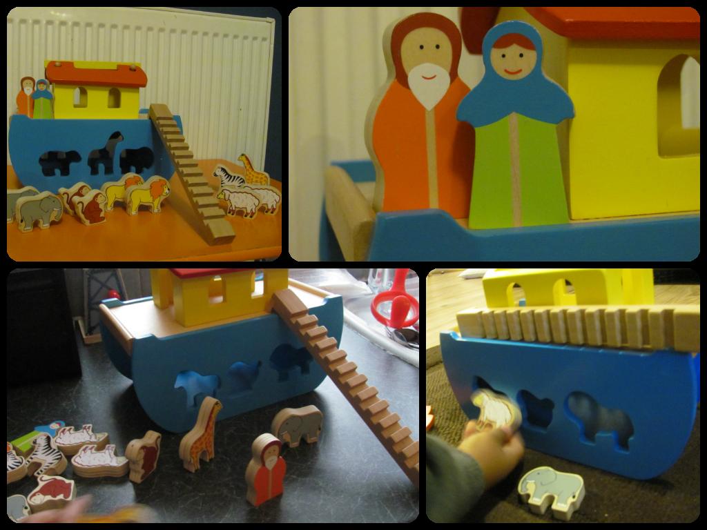 Wilko Play Wooden Noah's Ark
