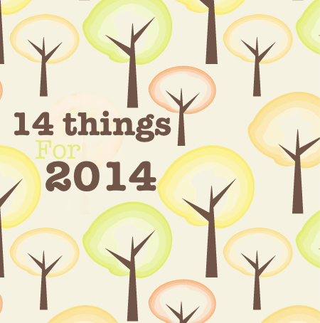 14 Things for 2014 – Personal and Blogging Goals