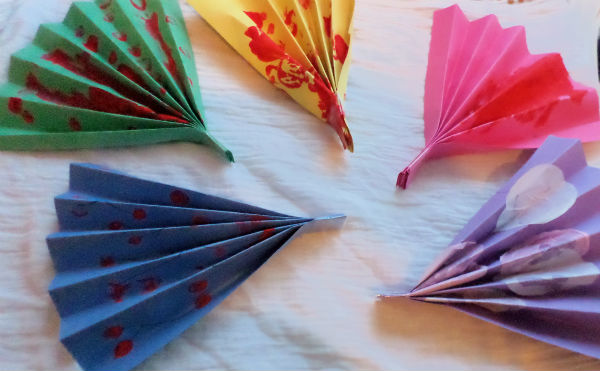 Arts And Craft Easy Hand Fan Created By Kids