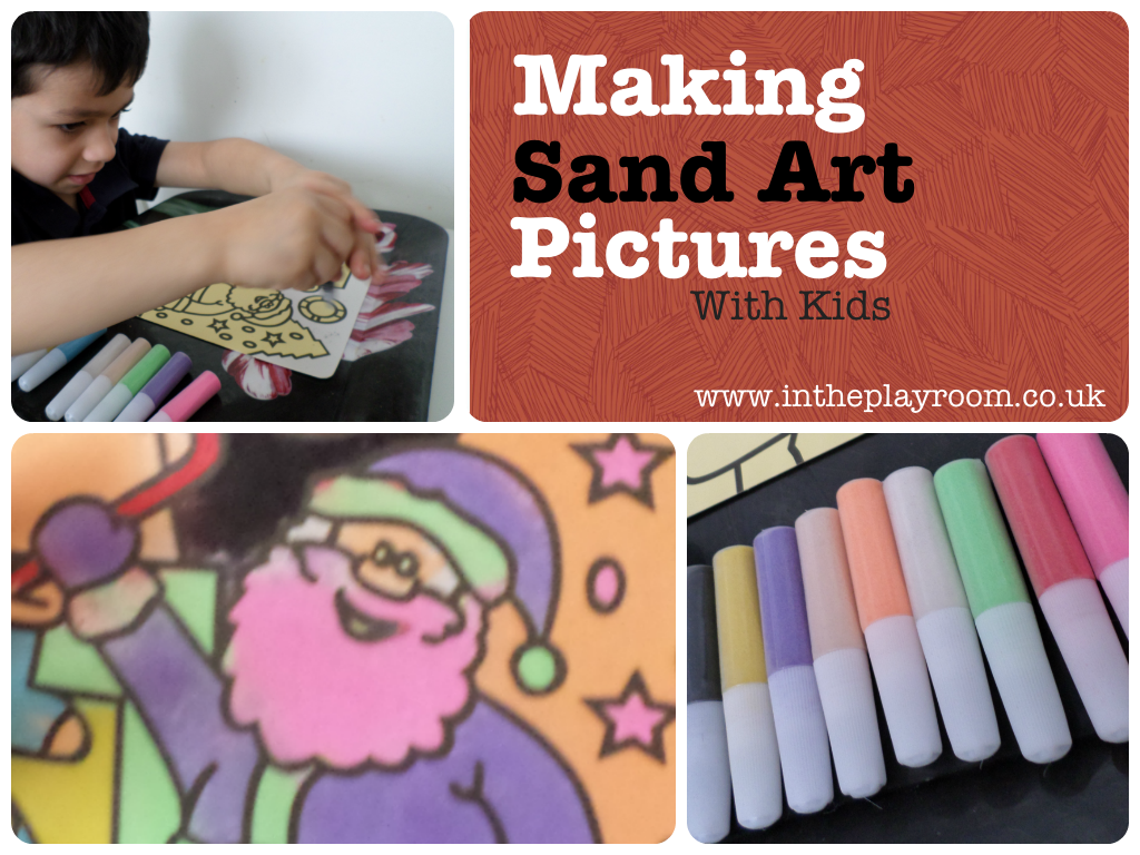 Making Sand Art Pictures with Kids Bee Happy