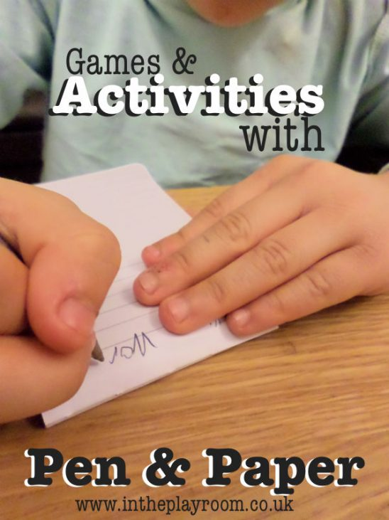 Activities and Games with a Pen and Paper