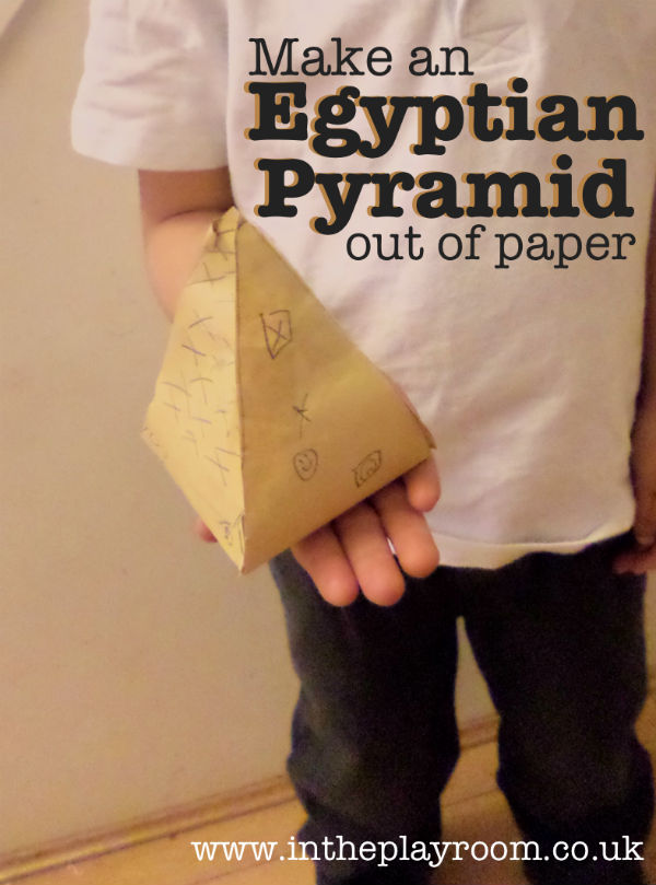 how to make a paper pyramid for kids