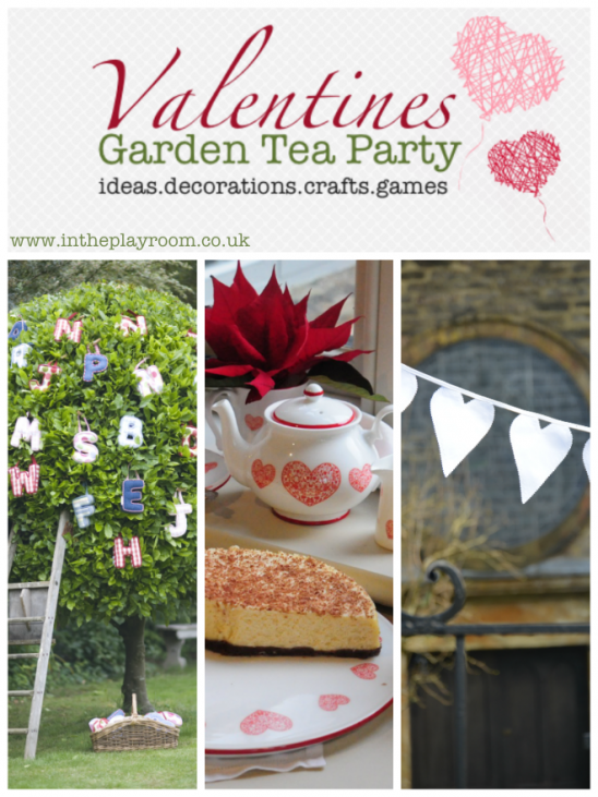 Garden Ideas for a Valentines Tea Party