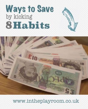 "Ways to save money with ""Kick My Habits"""