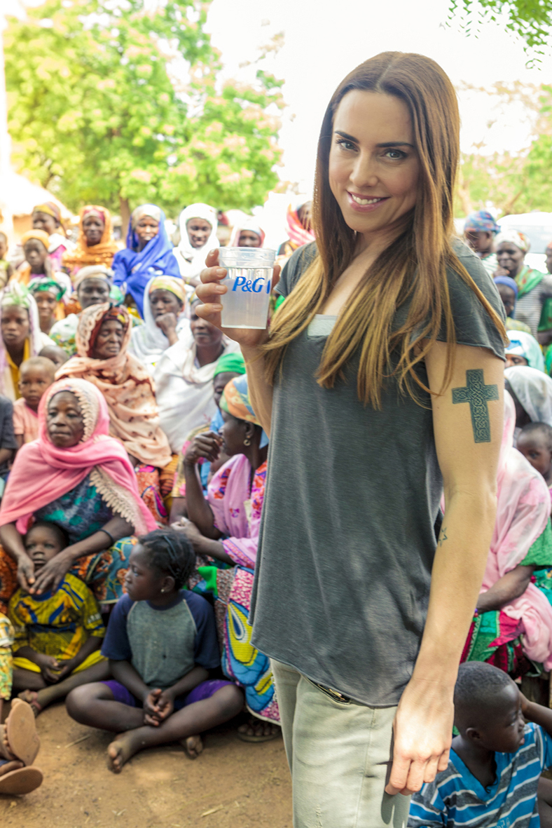 Melanie C P&G and Asda Clean Water Campaign Ambassador