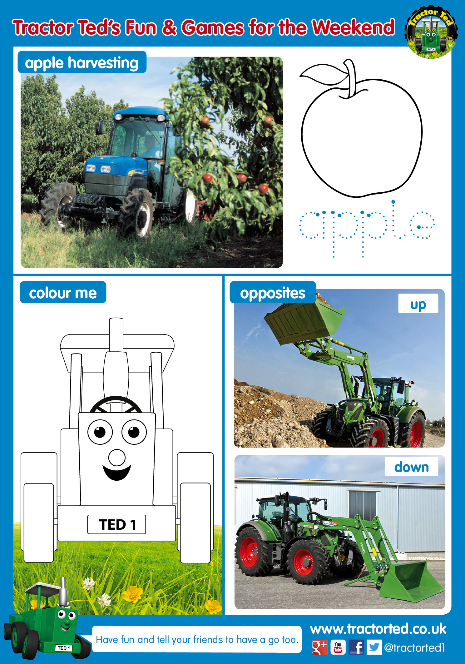 Tractor Ted Free Spring Printable Activity Sheet