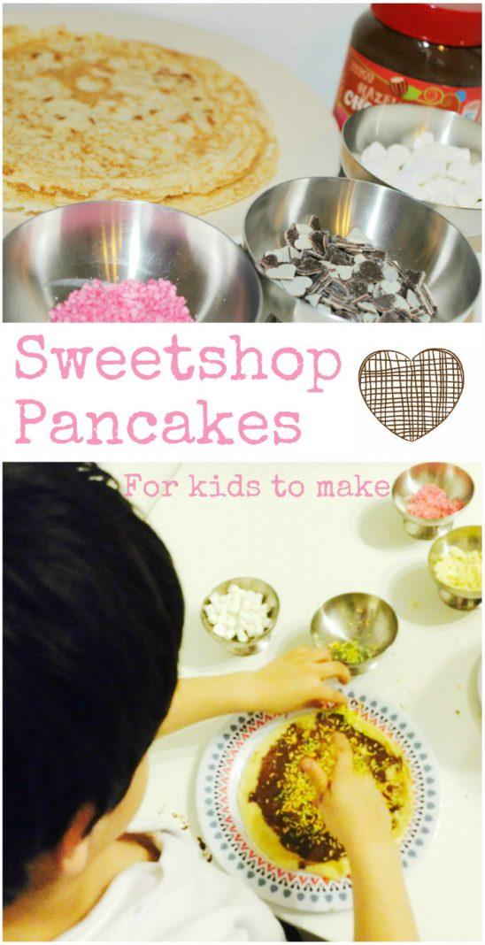 Sweet Shop Pancakes for Pancake Day
