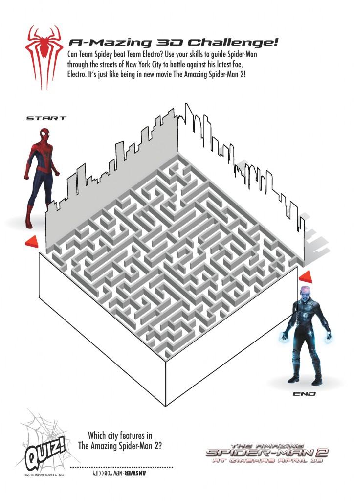 Free Printable Spiderman Colouring