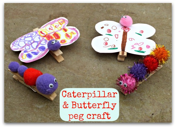 Caterpillar-butterfly-peg-craft
