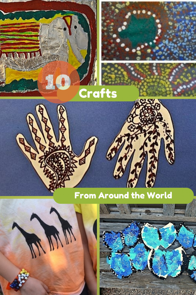 10 crafts from around the world in the playroom for Around the world crafts