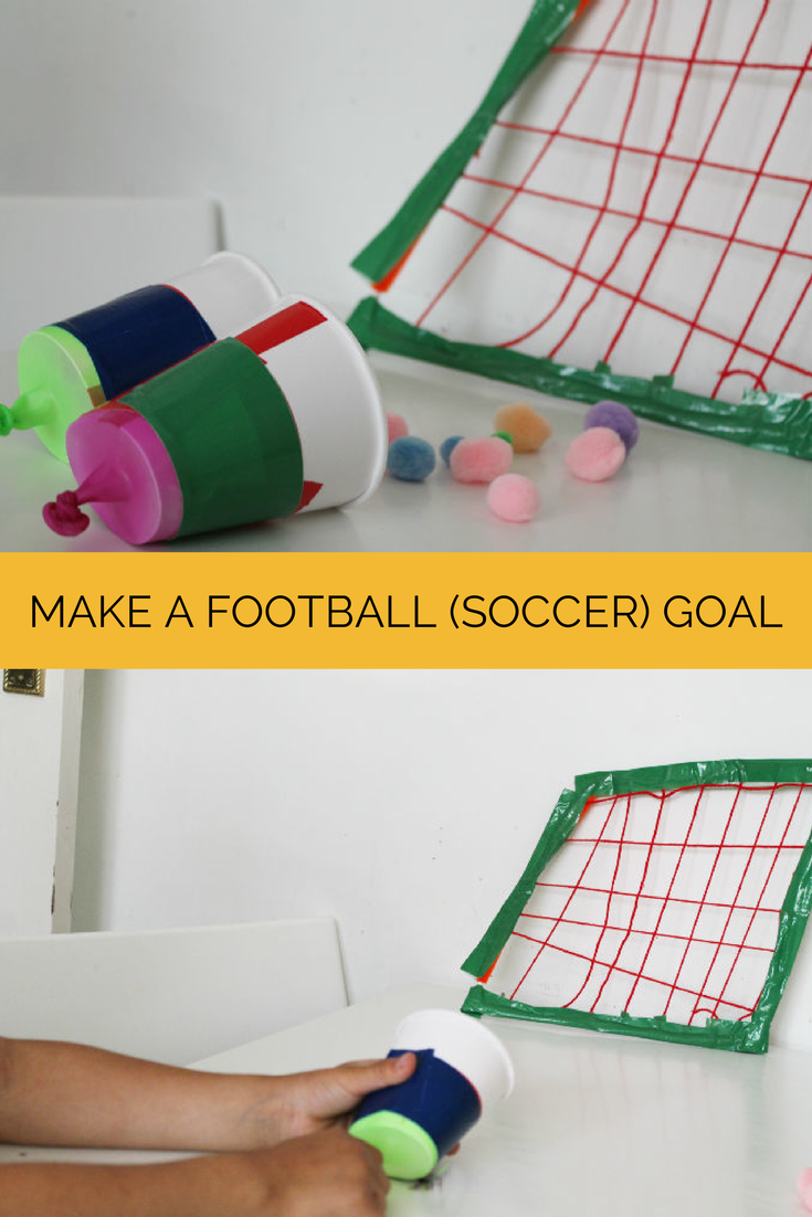 How to Make a Football Goal Craft - In The Playroom