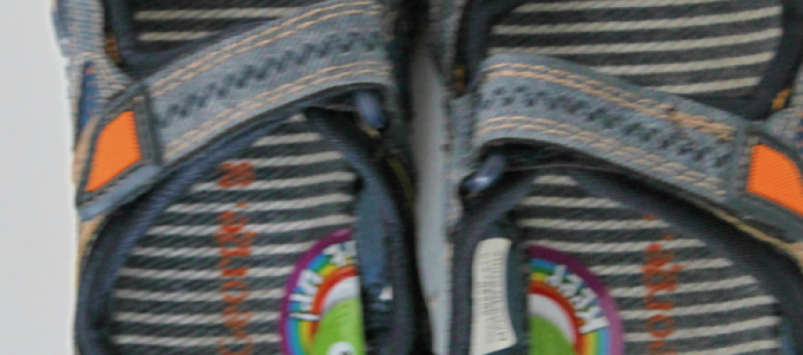 Parenting life hacks - stickers to help children learn which way around to put their shoes