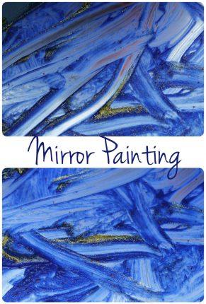 Shiny Starry Night Mirror Painting