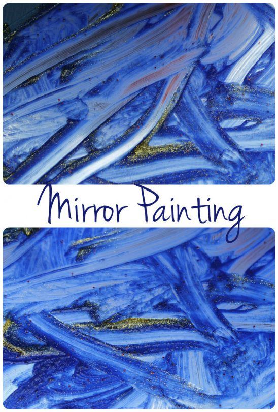 Shiny Starry Night Mirror Painting
