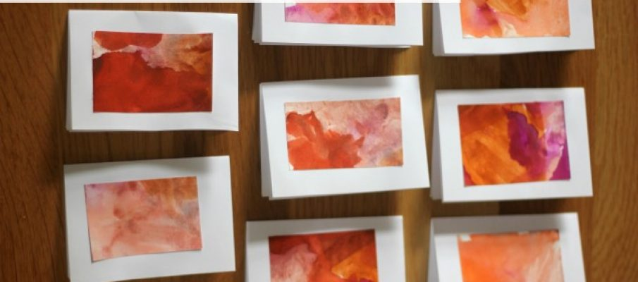 Mini-Watercolour-Thank-You-Cards-Craft-for-Kids-680×453