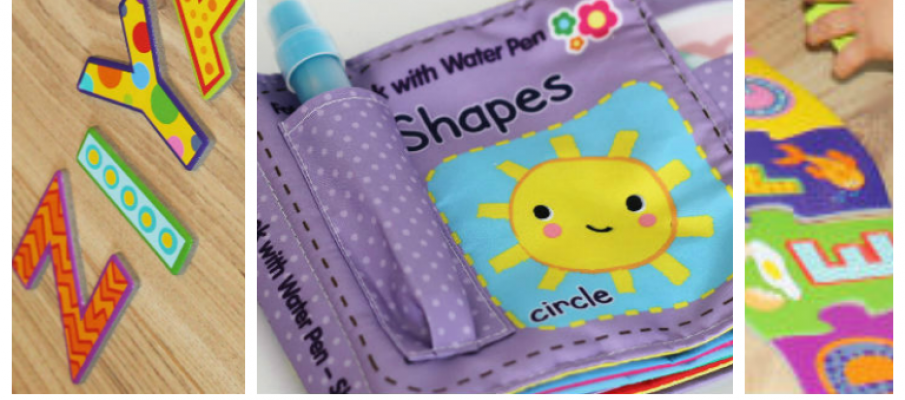 toys to help children develop early skills through play - letters, numbers, shapes, colour and fine motor skills