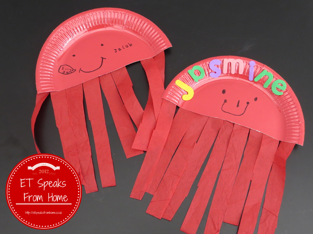 jelly-fish-paper-plate