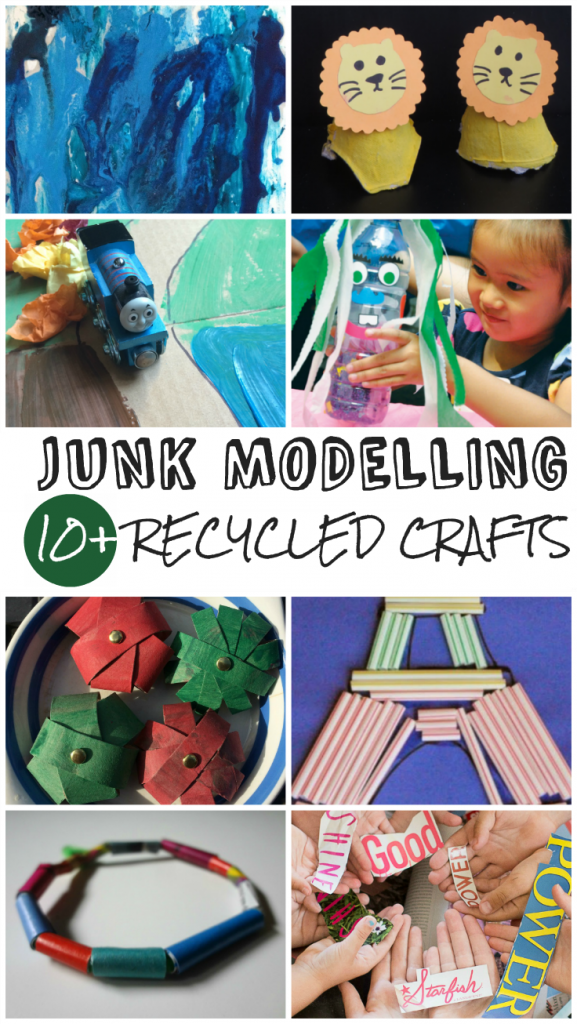 11 Recycled Junk Modelling Crafts and Tuesday Tutorials Week 30
