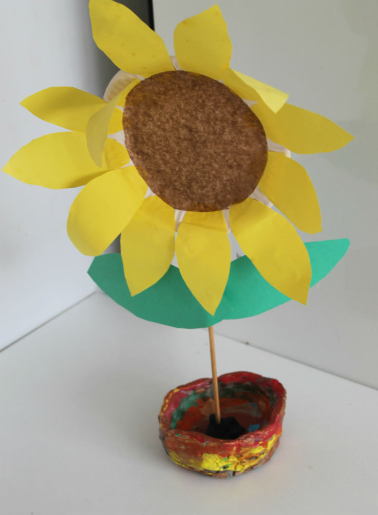Paper Plate Sunflower In The Playroom