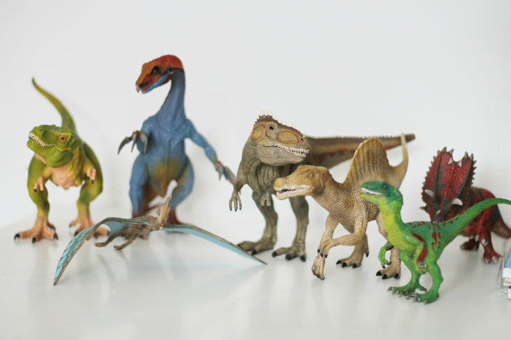 Sensory Play Ways To Play With Toy Dinosaurs In The Playroom