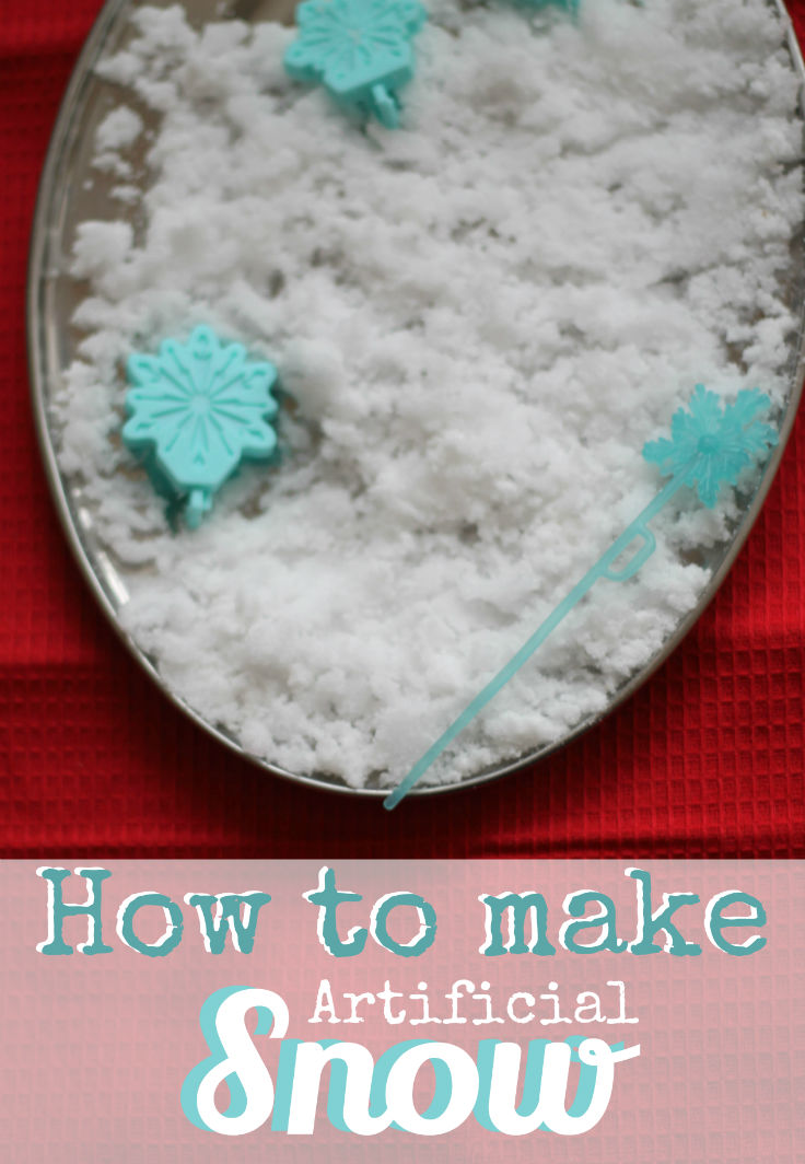 Science for kids how to make artificial snow in the