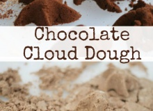 Sensory Play with Chocolate Cloud Dough (2 Ways to Make!)