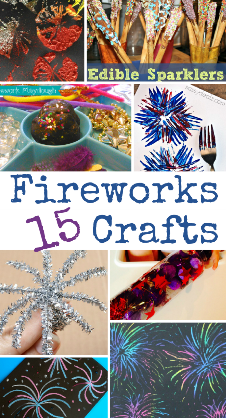 15 Fireworks Crafts for Bonfire Night, New Year's Eve or 4th July