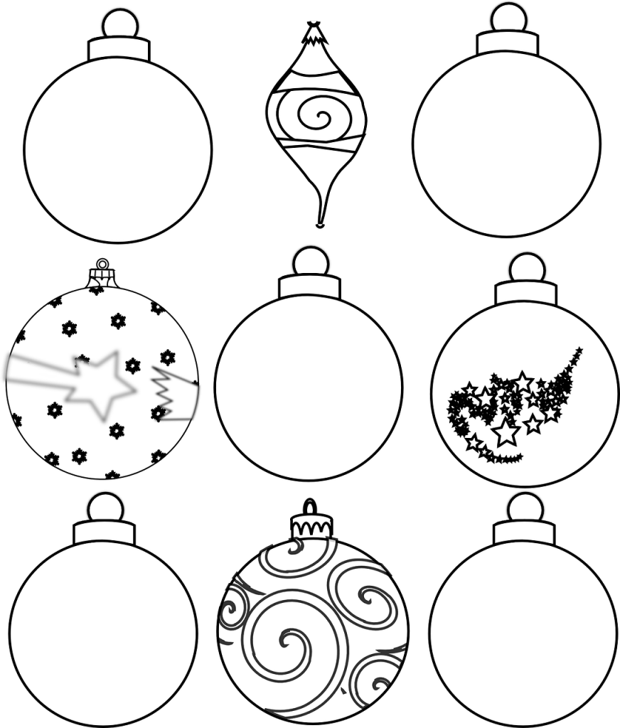 Colour and Design your own Christmas Ornaments Printables ...