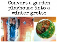 Turn a Playhouse into a Winter Grotto