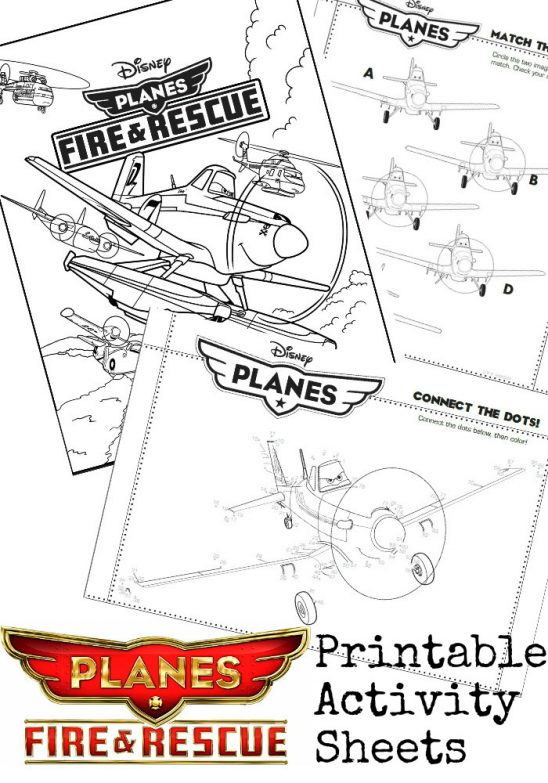Disney Planes 2 Printable Activity Sheets