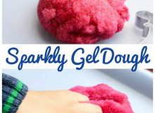 Simple Playdough Recipe : Sparkly Gel Dough