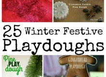 Winter and Festive Playdoughs and Cloud Doughs