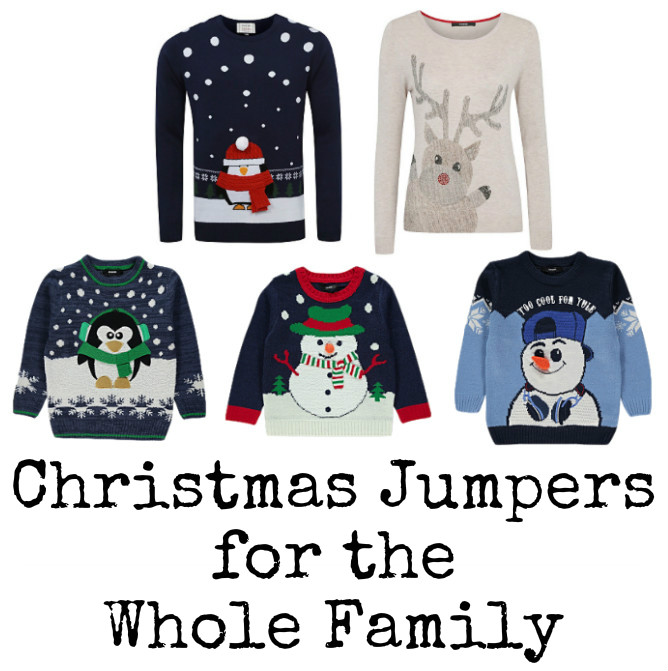 Christmas Jumpers from George at Asda for all the family