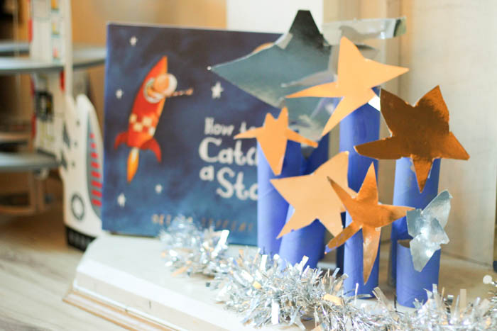 Kid Made Star Display Inspired by How to Catch a Star